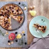Schneller Obstkuchen mit Mürbeteig ohne Ei