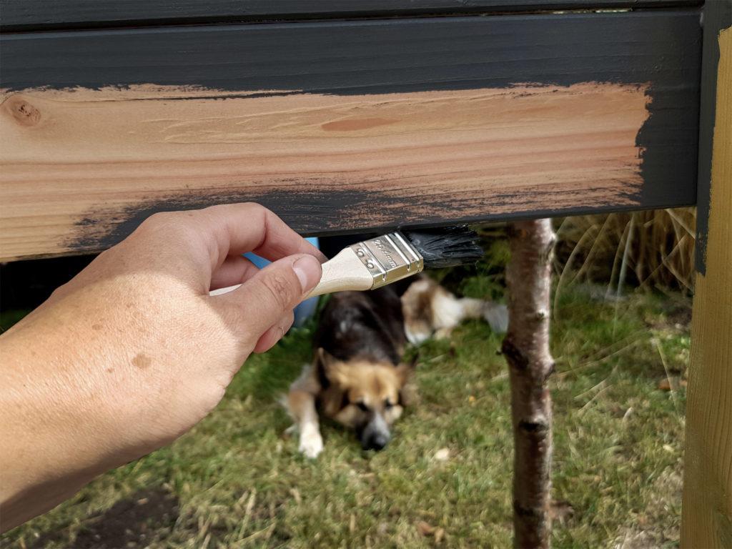 Der Hund ist immer dabei! DIY Sichtschutz
