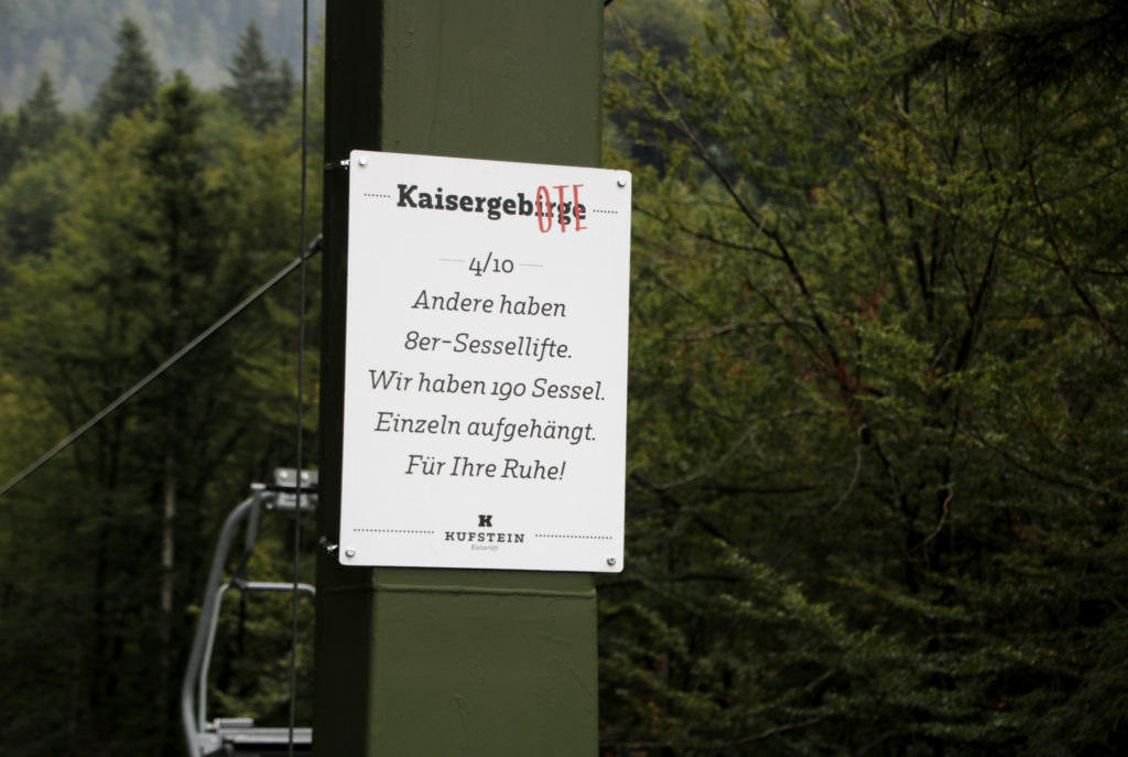 Kaiserlift ins Kaisergebirge
