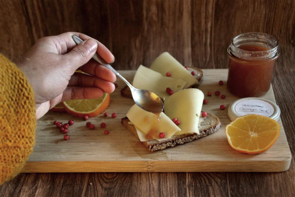 Preiselbeer-Orangen-Senf