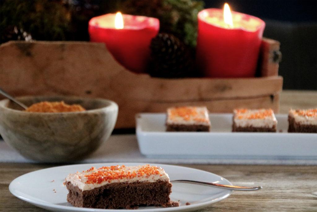 Hagebuttencheesecake Glühweinkuchen