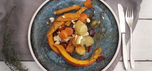 Ofengemüse mit Yacon, Kürbis und Süßkartoffel