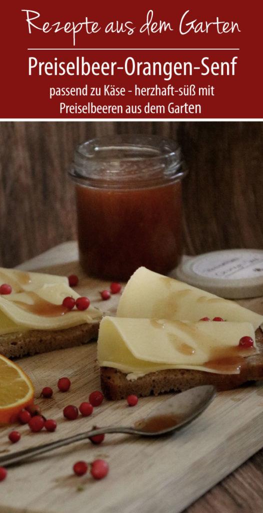 Preiselbeer-Orangen-Senf zu Appenzeller Käse