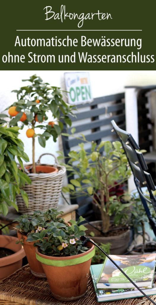Urlaubsbewässerung auf dem Balkon Solar-Bewässerungs AquaBloom Set Garden