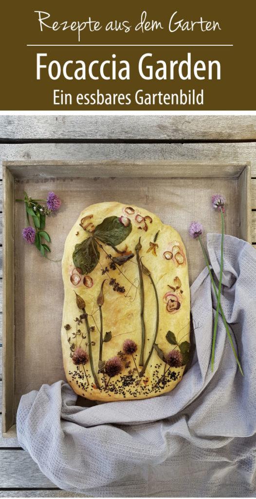 Focaccia Garden - ein essbares Gartenbild