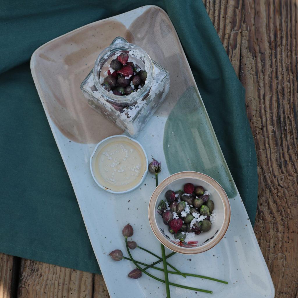 Salzkapern aus Schnittlauchknopsen | Rezepte aus dem Garten