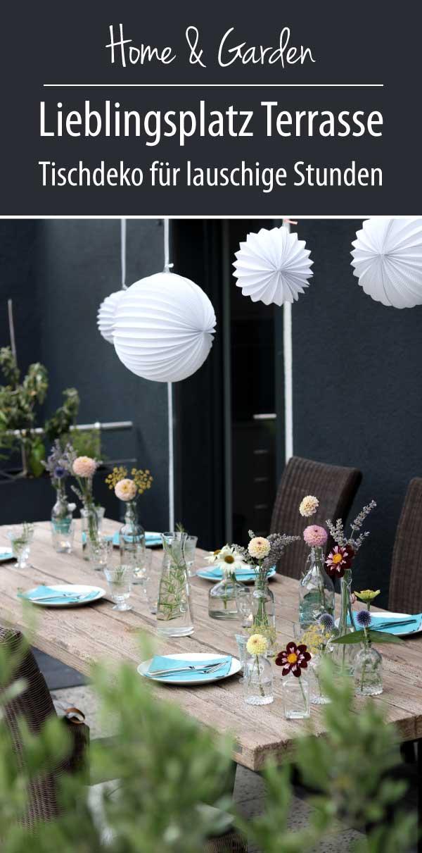 Lieblingsplatz terrasse - schnelle Tischdeko - ums metall manufaktur