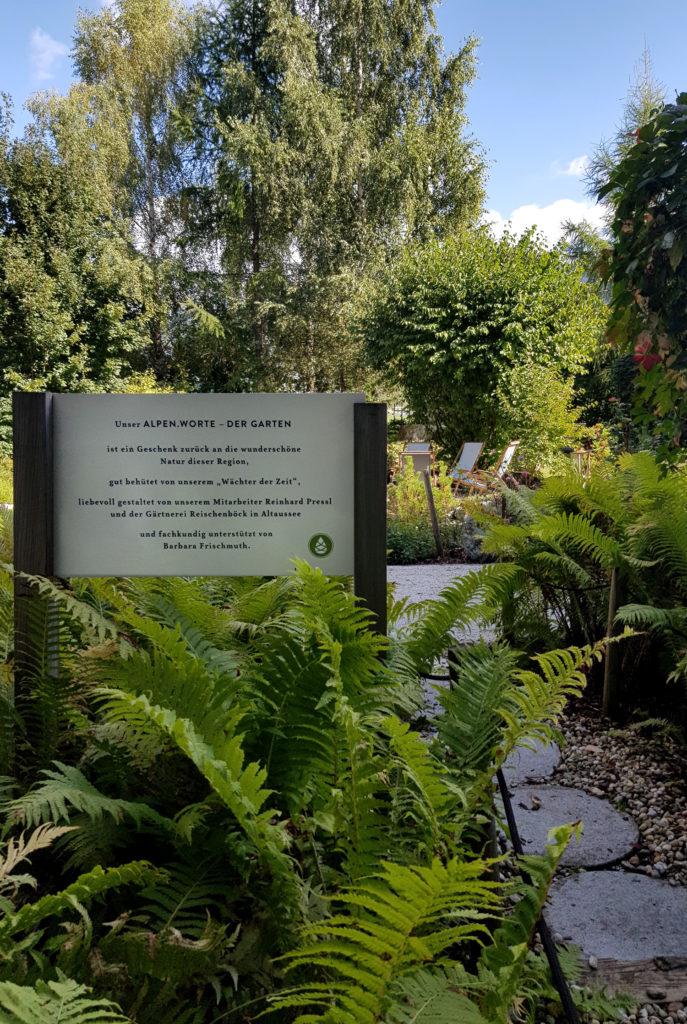 G'sund & Natur Hotel DIE WASNERIN Reisebericht Garten